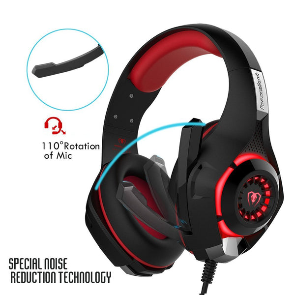 Leegoal Gaming Headset with Microphone for PS4/PC - valebuy.com