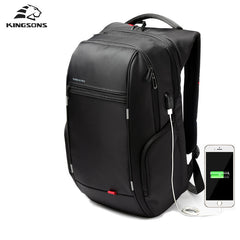 Kingsons Backpack - USB Charge/Waterproof