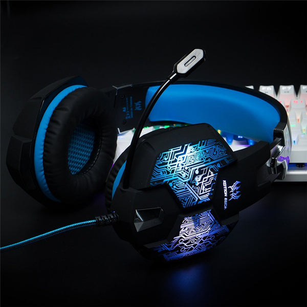 Gaming Headset With Microphone/Led light - valebuy.com