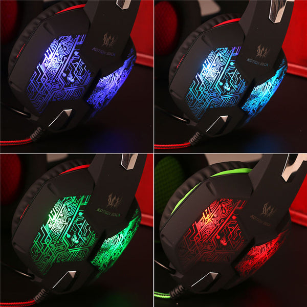 Gaming Headset With Microphone/Led light