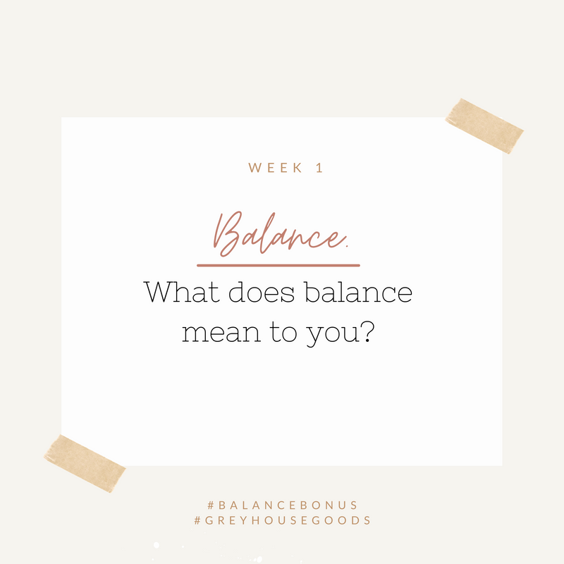 What does BALANCE mean?