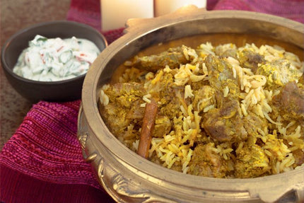 Mutton Biryani & Raita With Soft Drink