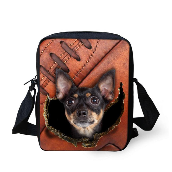 Chihuahua Crossbody Bags 1 - Back To School