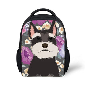 Cute Schnauzer Primary School Backpack - Back To School