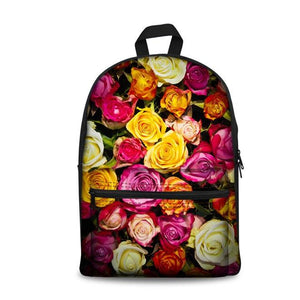 Flower School Backpacks 5 (have Pocket in Front) - Back To School
