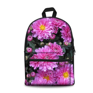 Flower School Backpacks 6 (have Pocket in Front) - Back To School