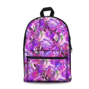 Flower School Backpacks 7 (have Pocket in Front) - Back To School