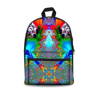 Color Art School Backpacks (have Pocket in Front) - Back To School