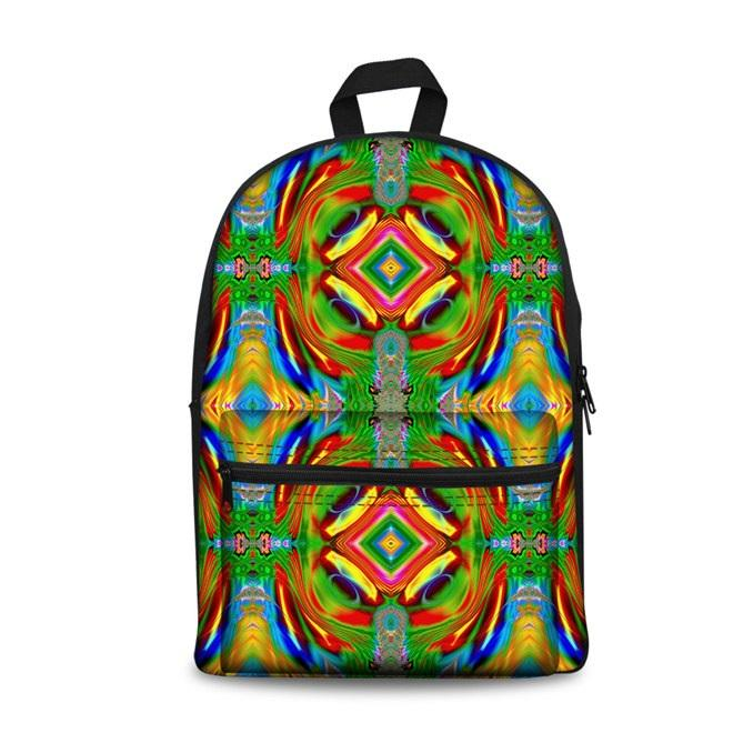 Color Art School Backpacks 1 (have Pocket in Front) - Back To School