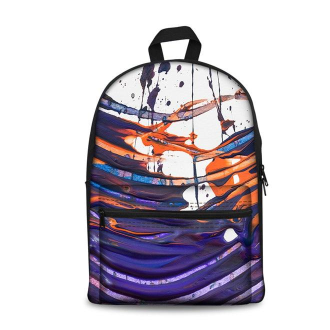 Color Art School Backpacks 2 (have Pocket in Front) - Back To School