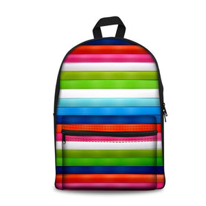Color Art School Backpacks 3 (have Pocket in Front) - Back To School