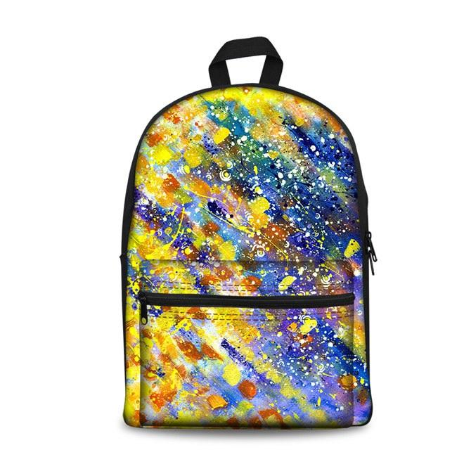 Color Art School Backpacks 4 (have Pocket in Front) - Back To School