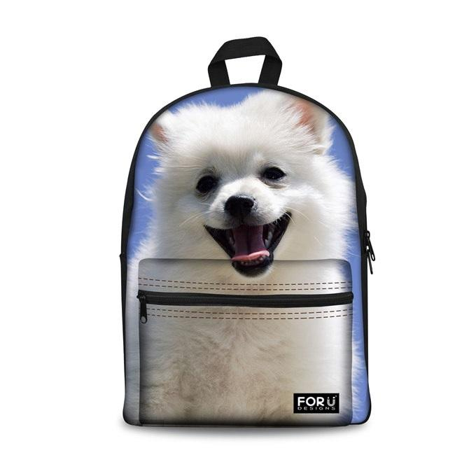 3D Cute Dog School Backpacks 7 (have Pocket in Front) - Back To School
