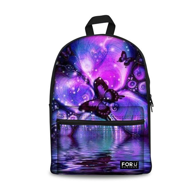 Butterfly School Backpacks (have Pocket in Front) - Back To School