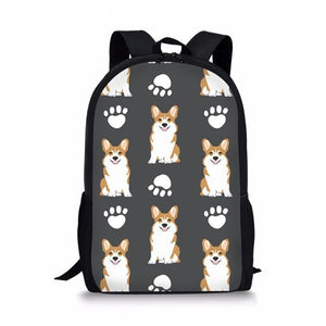 Corgi School Backpack 5- Back To School