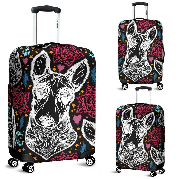 BULL TERRIER 3D PRINTED LUGGAGE COVER