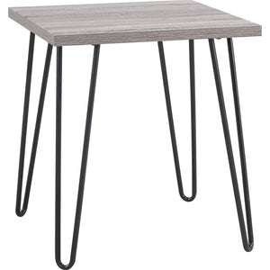 Ameriwood Home Owen Retro End Table, Distressed Gray Oak/Gray