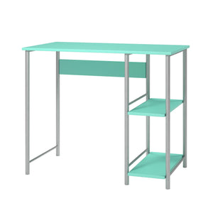 Ameriwood Home Garrett Metal office Desk with 2 side Shelves, Spearmint