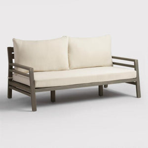Gray San Sebastian Outdoor Occasional Deep Bench