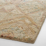 Light Brown Tufted Wool Area Rug