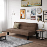 Futon Couch with Microfiber Cover