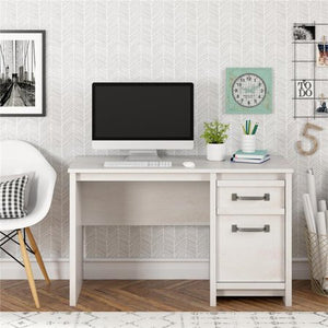 Ameriwood Home Bassinger Computer Desk in Ivory Oak