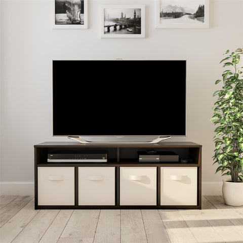 "Mainstays 4 Cube TV Console for TVs Up to 59"", Espresso"