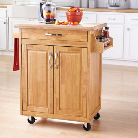 Mainstays Kitchen Island Cart,Natural