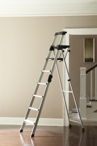 Cosco 8 Ft. Signature Series Aluminum Folding Step Ladder, 300 Lb
