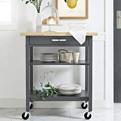 Mainstays Multifunction Kitchen Cart,Gray