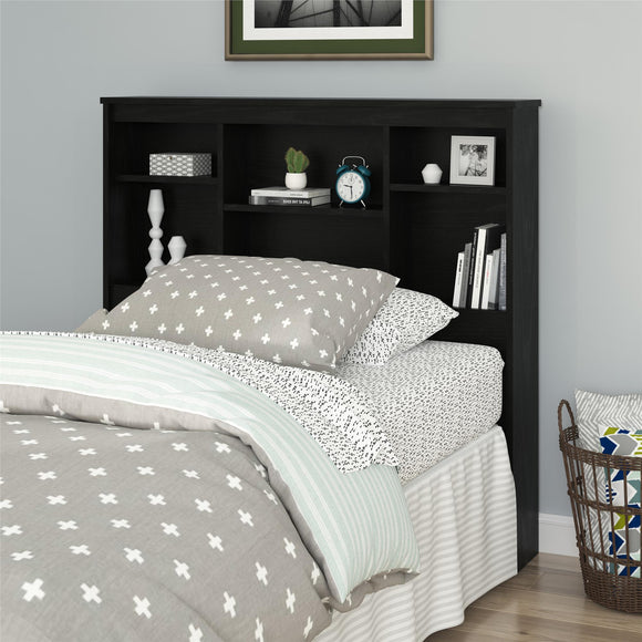 Mainstays Twin Storage Headboard, Nightfall Oak