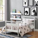 Baby Relax Sleigh Toddler Bed With Bed Rails, White
