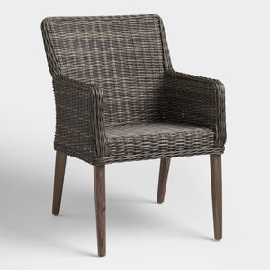 Gray All Weather Wicker Borgia Outdoor Dining Chair