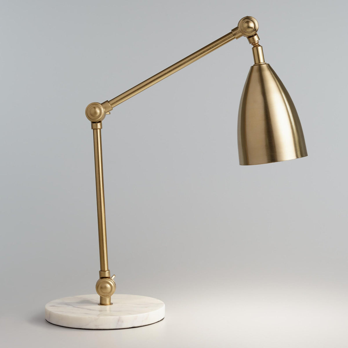 Gold Adjustable Task Desk Lamp With Marble Base Twigs Direct
