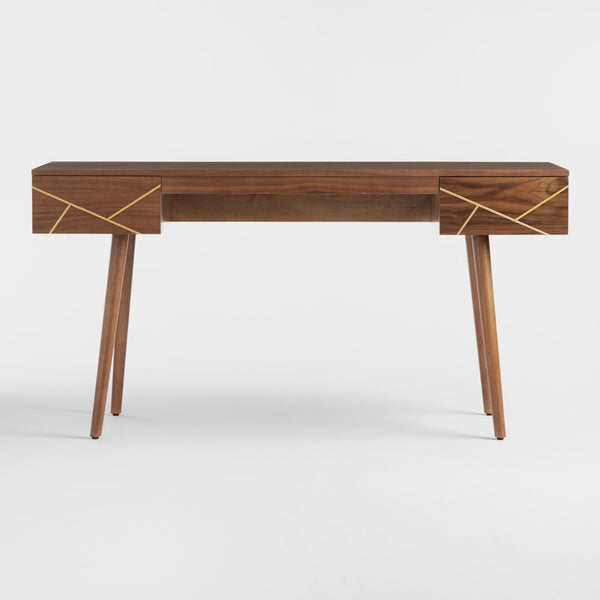 Wood And Metal Inlay Dustin Desk