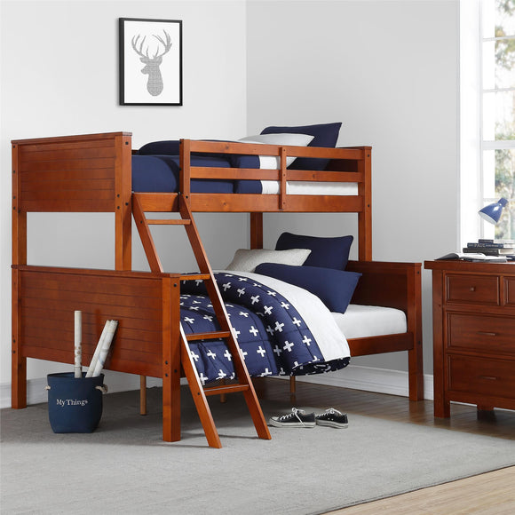 Your Zone Twin Over Full Bunk Bed,Walnut