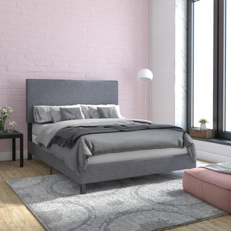 DHP Janford Upholstered Bed, Gray Linen - Full