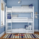 Better Homes & Gardens Tristan Triple Bunk Bed, White