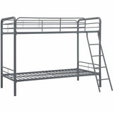 DHP Twin over Twin Metal Bunk Bed Frame, Silver