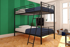 Convertible Twin over Twin Metal Bunk Bed