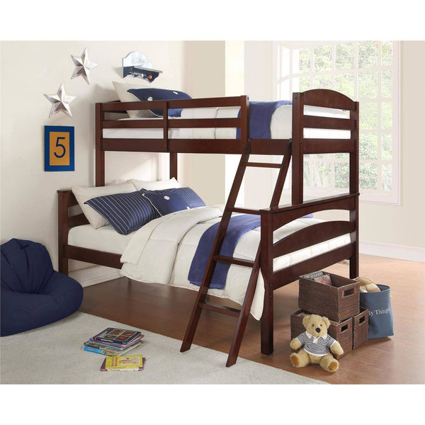 Better Homes & Gardens Leighton Twin-Over-Full Bunk Bed, Espresso