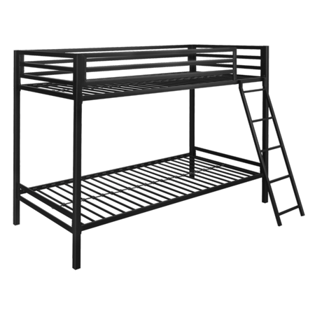Mainstays Premium Metal Twin over Twin Bunk Bed, Black