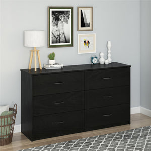Mainstays 6 Drawer Dresser, Nightfall Oak