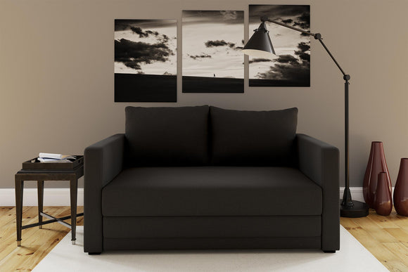 Mainstays Flip Loveseat Sofa Sleeper Chair - Black Linen