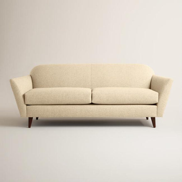 Chunky Woven Jorna Upholstered Sofa - Cream
