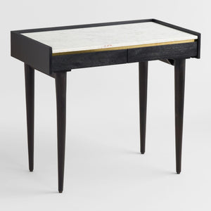 Black Axton Desk With Marble Top