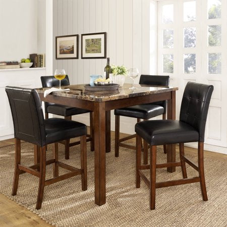 Dorel Living Andover 5-Piece Counter Height Dining Set