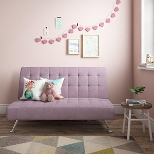 DHP Milo Kids Sofa Futon, Color Lilac