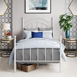 Mainstays Traditional Metal Bed with Headboard, Twin, White