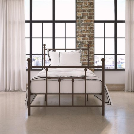 DHP Manila Metal Bed, Bronze, Twin